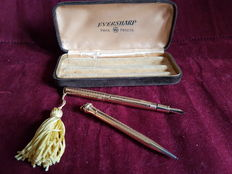 Wahl Eversharp fountain pen and pencil set c. 1922 vintage with box