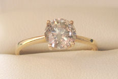 Solitaire Diamond Ring 0.95 ct 14K yellow Gold
