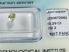 Marquise brilliant diamond 0.29 ct Natural Fancy Light Yellow SI 2 with IGI certificate