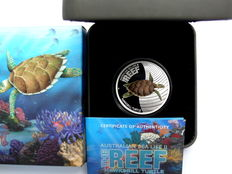Australia - 50 cents 2011 'The Reef' - Turtle 1/2 oz silver