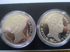 "The Netherlands – Medals ""The History of the Dutch Guilder"" (7 varieties) – Silver"
