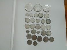 Russia - 30 Various Coins, mostly silver ones