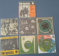 Lot of 7 The Beatles singles with Dutch Picturesleeves