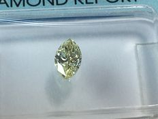 Marquise brilliant diamond 0.29 ct. Natural fancy light yellow SI 2 with IGI certificate, no reserve price