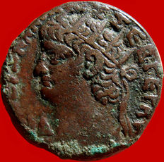 Roman Empire - Nero (54-68 AD) billon tetradrachm (12,56 g. 23mm), Egypt, Alexandria, dated year 14 (67/8 AD).