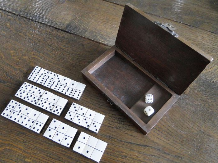 dominoes ivory on ebony domino game miniature from the. Black Bedroom Furniture Sets. Home Design Ideas