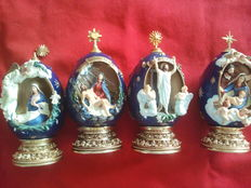 House of fabergè, the nativity, mary reclaims her son en he is risen, the annunciation, egg