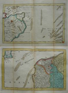 Great Britain, France, The Canal; J. the Lat - 2 copper engravings - 1737