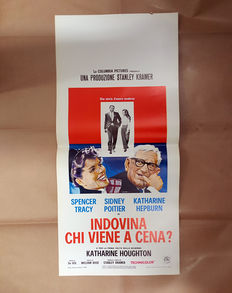 Guess Who's Coming To Dinner - Original Italian Film Poster - Size: 33x70cm - Spencer Tracy - Sidney Poitier  - Katharine Hepburn