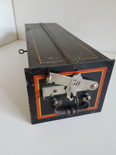 Safe deposit box from a vault, with working keys - 19th century, Italy