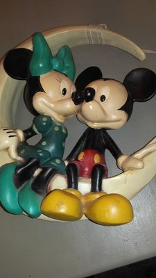Disney, Walt - Figure - Mickey and Minnie Mouse in the moon (1960s/'70s)