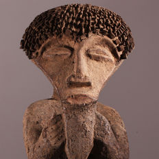 MAMBILA Ancestor Figure on a Wooden Base- Nigeria- From a Belgian Collection