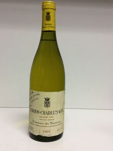 1989 Domaine Bonneau du Martray Corton-Charlemagne Grand Cru, Cote de Beaune, Burgundy, France, 1 bottle 0.75 L.