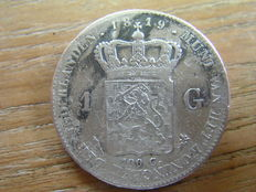 The Netherlands - 1 guilder 1819 Willem I - silver.