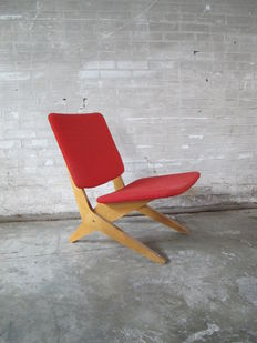 Jan van Grunsven for Pastoe, FB18 scissor armchair