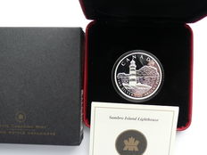 Canada - 20 dollars 2004 'lighthouse' - 1 oz silver