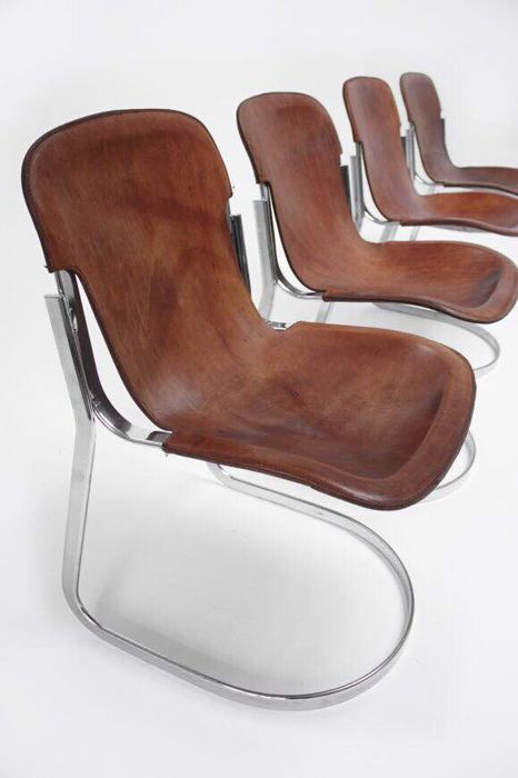 Willy Rizzo for Cidue - 4 dining chairs