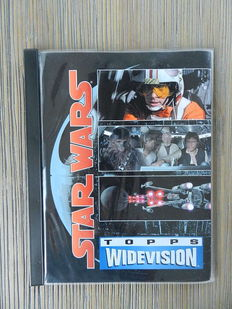 Star Wars - Complete Topps SW Trilogy Widevision trading card book + 1 chase card + Smiths SW Trilogy movieshots collectors' album + SW Portfolio by Ralph McQuarrie