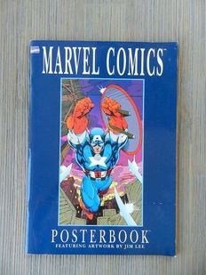 Marvel Comics - Posterbook (portfolio) - 8 kunstdrukken door Jim Lee - (1991)