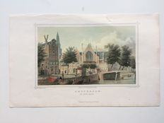 Amsterdam; 12 hand coloured steel engravings - approx. 1850-1860