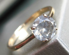 Solitaire Diamond Ring 1.08 ct-14K yellow Gold
