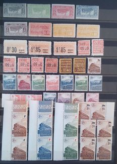 France - Collection of Stamps on Postal Packages.
