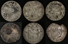 """Provincial – """"Rijderschelling"""" (Rider shilling) 1682/1691 (6 different) – silver."""