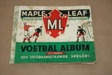 Forerunner Panini - Maple Leaf - 1st series - 100 leading players - Circa 1950.