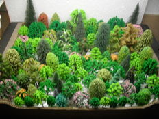 Scenery H0 – lot of  120 trees, pines by among others Busch, Noch, Heki