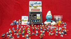 Smurfs collection, more than 70 pieces including Schleich and Peyo