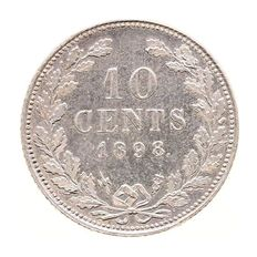The Netherlands – 10 cents 1898 Wilhelmina – silver
