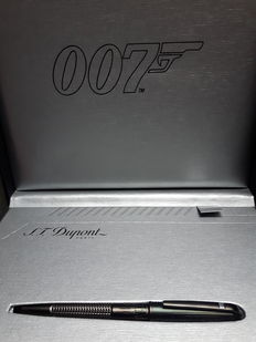 S.T. DuPont James Bond special edition ballpoint pen in black PVD-complete-new and unused