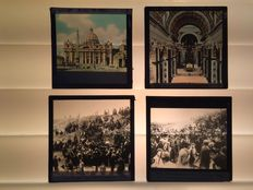 Italy -  Glass slides 10x  1915 +/-