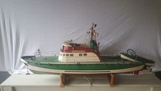 Wooden handmade model Theodor Heuss 23.2-Meter-class of the shipping company DGzRS