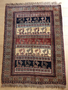 Beautiful New HAND-KNOTTED  PERSIAN Baluch rug c. 1980 139 x 97cm