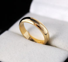 Timeless band Yellow gold ring 18k , wide 4.65mm , weight 4.83gr  - size 6.75 (US)