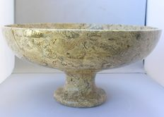Oceanic Fossil Marble - hand-bowl - 30 x 15 cm - 4200 gm