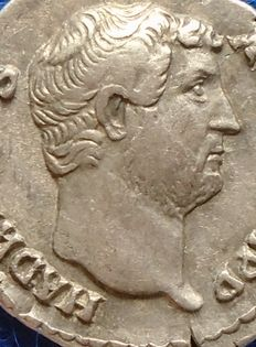 Roman Empire – Denarius of Hadrian (117-138 A.D.), struck in Rome.