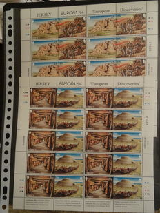 Europa Stamps 1950/2000 – Batch with 49 sheets, stamp booklets, series