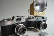 2 Pax cameras, Ruby and Junior, 1958 and 1960