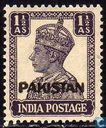 King George VI with print