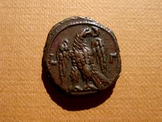 Roman Empire - Probus (A.D. 276-282) billon tetradrachm (8,36 g. 19 mm). Egypt, Alexandria, dated RY 3 = A.D. 277/8.   L-Γ, eagle