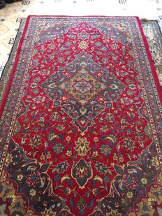 Handknotted Persian carpet - Meshed 212x120cm Iran around 1990
