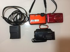 02 Nikon and 01 Sony Camcorder