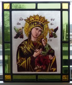 Stained glass, leaded light window decoration, the Netherlands, 20th century
