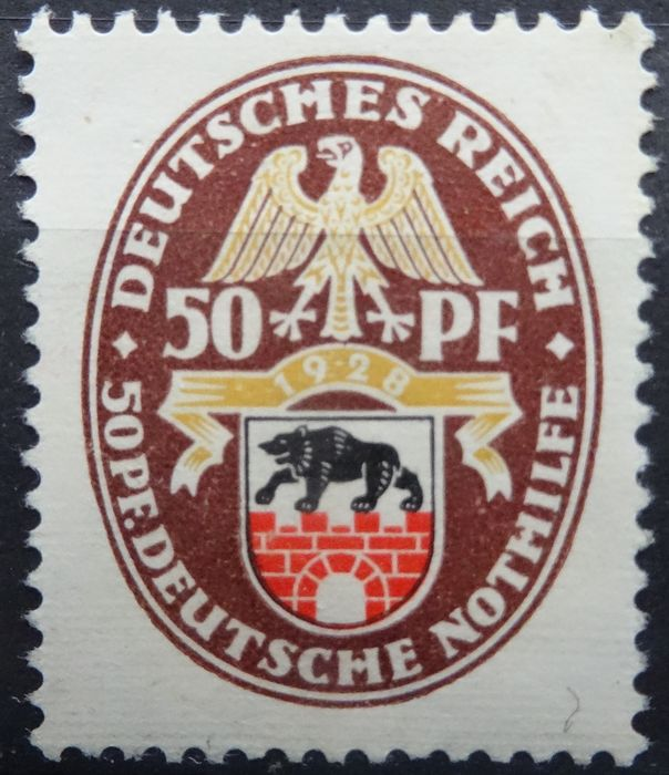 German Empire 1925/1929 – emergency aid; country weapons – Michel 375/377, 398/401, 425/434