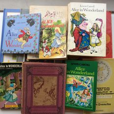 Lewis Carroll; Lot with 17 editions of Alice in Wonderland - 1929 / 2000