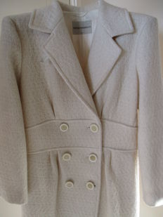 An Emporio Armani ivory-coloured coat.