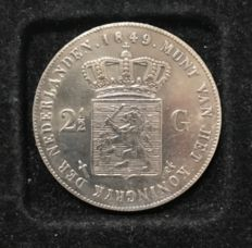 The Netherlands – 2½ guilder 1849 William II – silver
