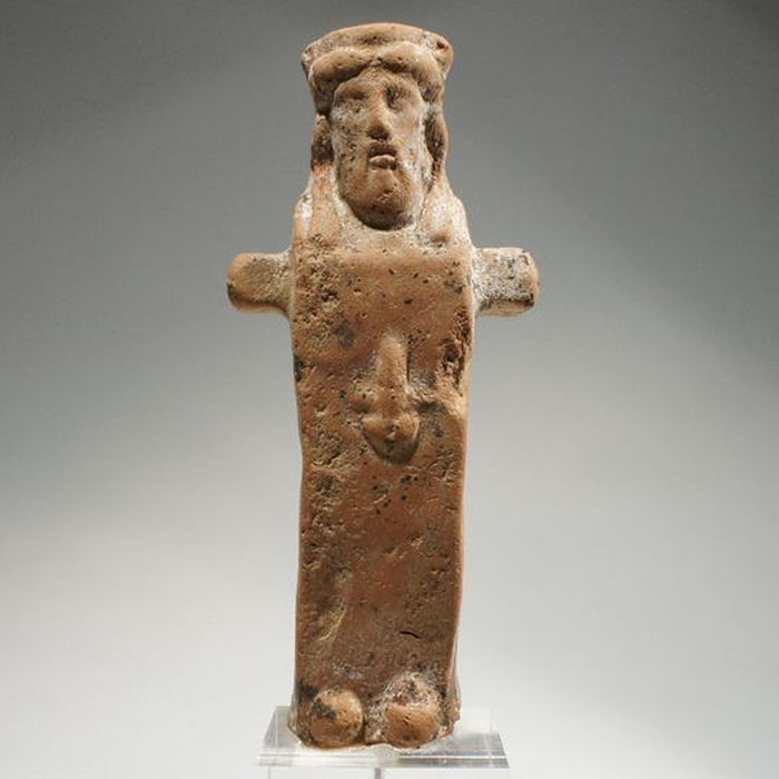 Greek terracotta Herm - H. 12,5 cm